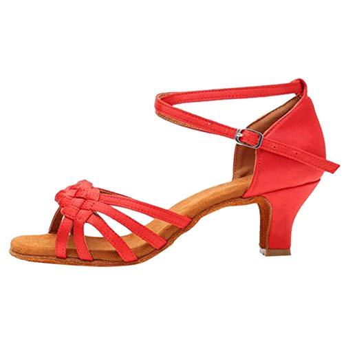 Damen Tanzschuhe Standard Latin Tanzen Dance Schuhe Sandalen Weiche Sohle Celucke