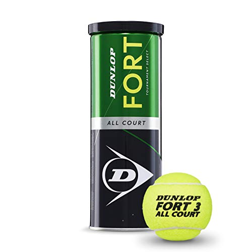Dunlop Fort All Court TS - Confezione da 3 palline da tennis