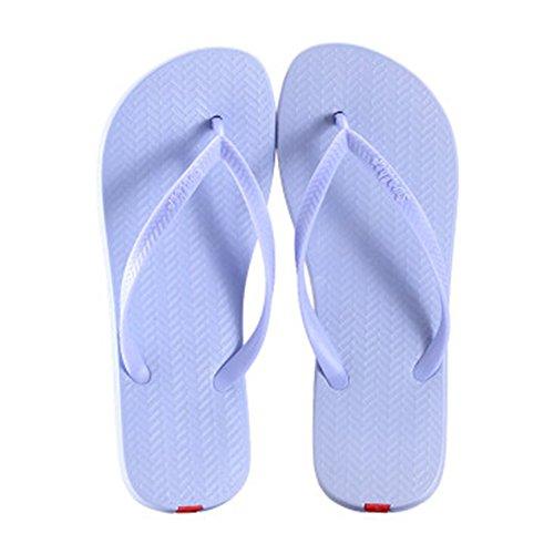 Casual Tongs Unisexe Plage Chaussons Anti-Slip Maison Slipper Bleu indigo