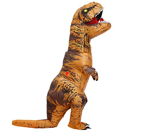 Child's Inflatable T-Rex Costume Dinosaur with dinosaur eggs (Brown)