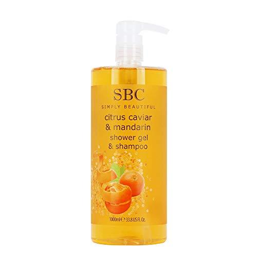 SBC Citrus Caviar & Mandarin Shower Gel & Shampoo (1000ml)