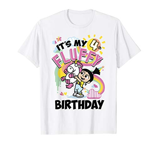 Despicable Me Minions Agnes It\'s My 4th Fluffy Birthday T-Shirt