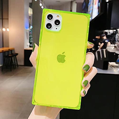 Funda para iPhone 12 Mini 12 11 Pro X XR XS MAX 6 6s 7 8 Plus Diseño Cuadrado de Moda Color Caramelo Funda de TPU Suave Transparente, FG, para iPhone 8 Plus