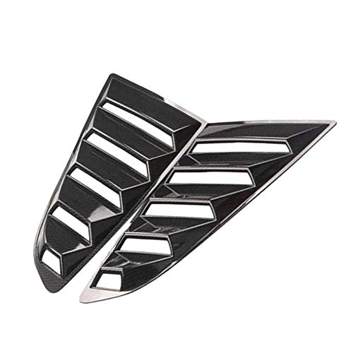 KenKER Rejilla para Ventana de ventilación Lateral de Coche, Apta para Ford Mustang 2015-2017