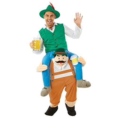 Fun Shack Verde Bávaro A Caballito Disfraz para Hombres y Mujeres - Un Tamaño