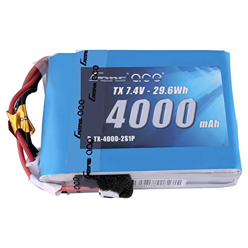 Gens ace 4000mAh 7.4V 2S TX LiPo Battery Pack with JST-EHR Plug for Spektrum DX9 DX8 DX7S DX7 Transmitter