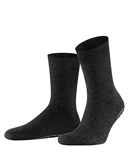 FALKE Unisex Socken, Homepads SO- 16500, Grau (Asphalt Melange 3180), 39-42