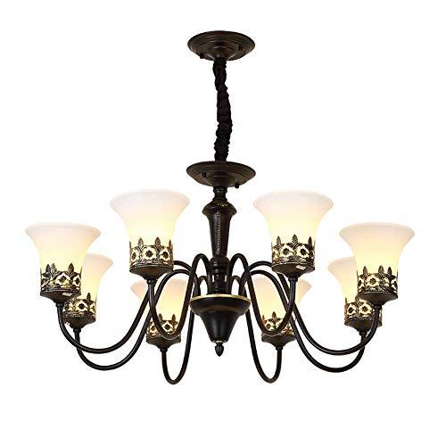 han han Los Cristales for lámparas de Techo, Luces Americanas 3 Luces de Granja de lámparas de araña de Lujo Moderno de Techo Colgante rústico Ligero Fundido Cristal Accesorios de Comedor Dormitorio
