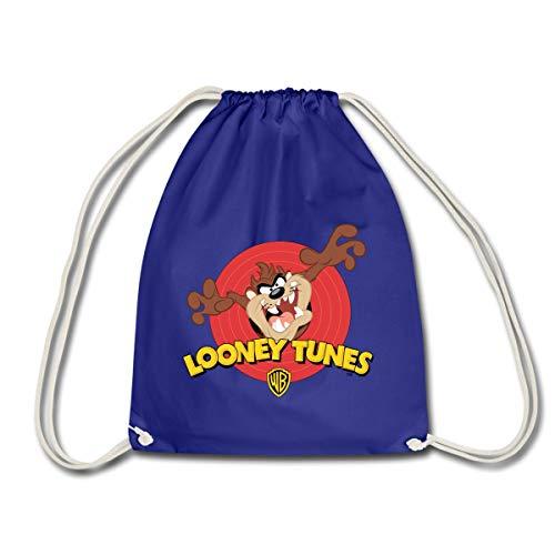 Spreadshirt Looney Tunes Taz Der Tasmanische Teufel Turnbeutel, Königsblau