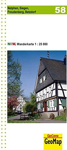 Wanderkarte Nordrhein-Westfalen 58 Netphen, Siegen, Freudenberg, Betzdorf 1:25.000 (Geo Map)