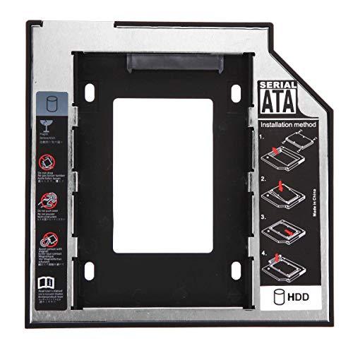 """Universal 2.5 """"9.5mm SSD SATA disco duro HDD Caddy adaptador unidad óptica bahía durable y útil"""
