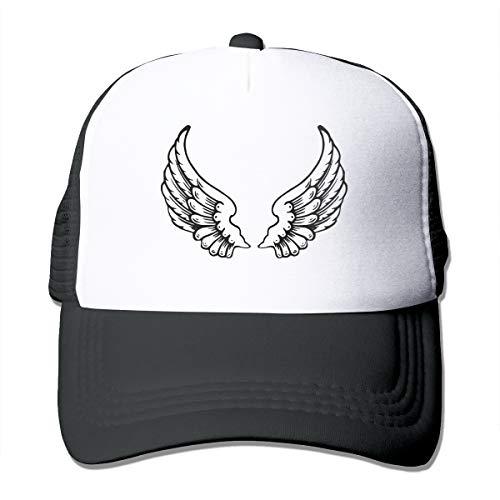 Osmykqe Baseballkappe, Totenkopf, Tattoo-Flügel, Netzstoff, Grau