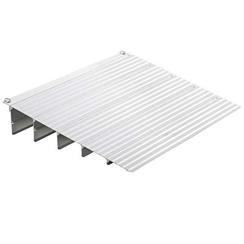 homcom Rampa per Sedia a Rotelle in Lega di Alluminio Lunghezza Regolabile e Antiscivolo, capacità 318kg 86.5x67x12.5cm