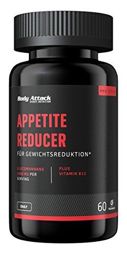 Body Attack Appetite Reducer Men, Kapseln mit Glucomannan zur Unterstützung der Gewichtsreduktion (1 x 60 Caps)