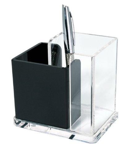 Wedo 606001 Acryl Butler (Acryl Exklusiv, 2 Fächer) glasklar/schwarz