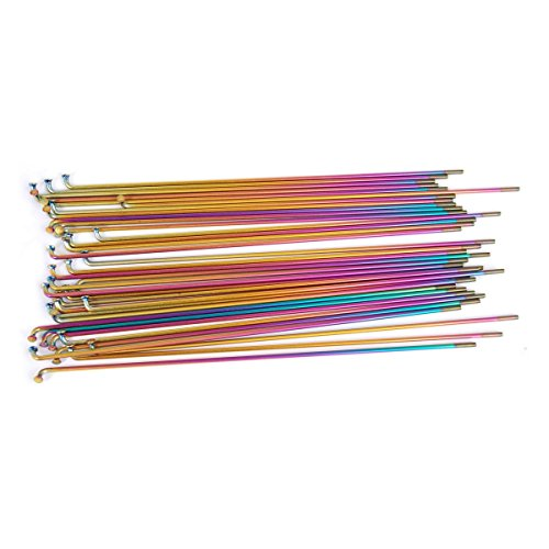 Vocal BMX Titanium Spokes Rainbow Ti 210mm, Ti Rainbow