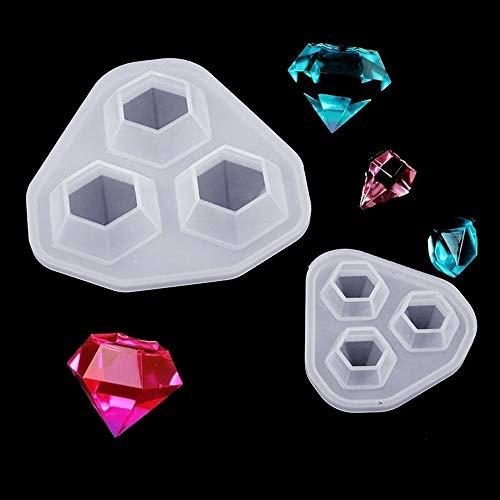 MZY1188 Moule en Diamant en Silicone 3 en 1, Outil de Fabrication de Bijoux Type de Forme de Coupe Bricolage Moules en résine époxy pour Outil de Fabrication de Bijoux