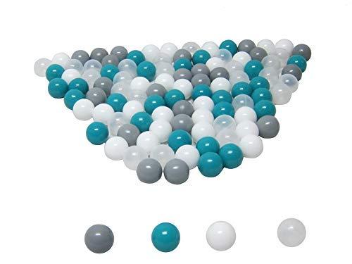 koenig-tom Bällebad24 - Lot de 100 balles de bain à balles - 6 cm - Turquoise - Mélange de qualité professionnelle - Sans plastifiants nocifs