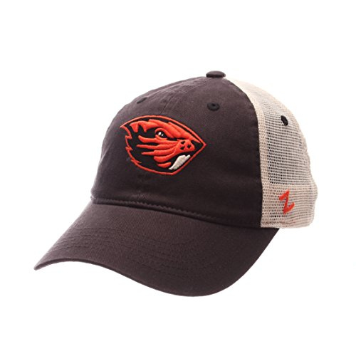NCAA Zephyr Oregon State Beavers Mens University Relaxed Hat, Adjustable, Team Color/Stone