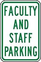 複製金属看板、インチ、教職員駐車場看板警告看板私有財産のための金属屋外危険看板ブリキ肉看板アートプラークキッチンホームバー壁の装飾
