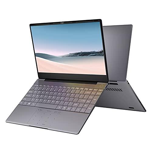 KUU K2S Laptop, Processore Intel Celeron 4115 Quad-Core fino a 2,5 GHz Window 10 8 GB DDR4 RAM 512 GB SSD Scafo in metallo grigio Schermo Full HD IPS Computer Notebook (8GB RAM+512GB SSD)