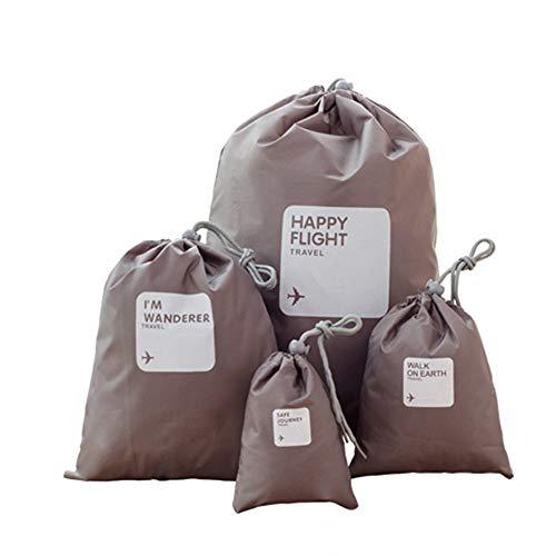 Bolsas de almacenamiento de viaje Sistema de 4pcs Bolsas almacenaje de la ropa a prueba de agua de viaje Accesorios de viaje organizadores Bolsas del cable Artículos de higiene cosmética Bolsas de alm