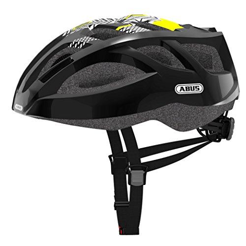 Abus Ambition Shiny Casco Bicicleta, Unisex Adulto, Negro, M