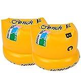BEETEST 1 par Bandas de brazo brazaletes amarillo de natación para adultos niños niños...