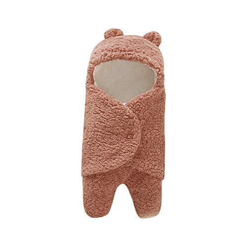 Neutral Swaddle Blanket Baby Sleeping Bag 0-6 Months Baby Products, Bubble Velvet, Autumn And Winter Out, Baby Blanket@Brown Child Comfort Quilt