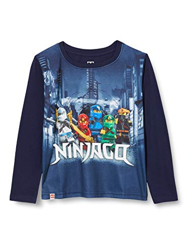 LEGO Jungen MWe-Langarmshirt Ninjago T-Shirt, 590 Dark Navy, 152