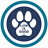 Life is Good. 4' Circle Sticker: Paw Coin