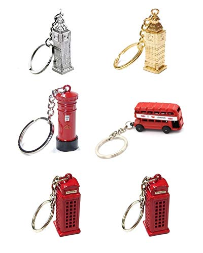 Die Cast Metal London City Keyrings, London Bus, Silver...