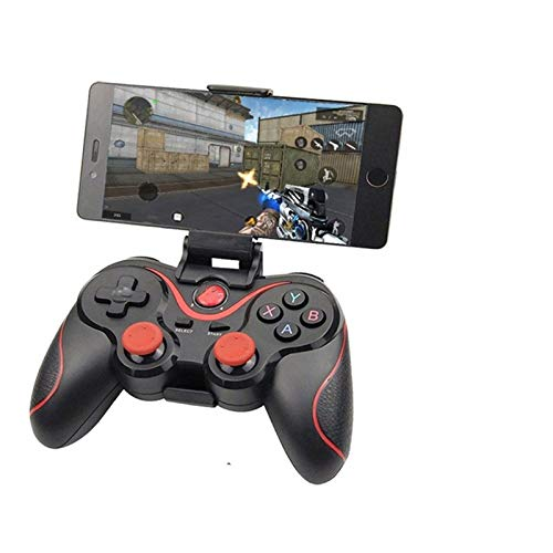 JYBHSH por inalámbrico Bluetooth 3.0 del regulador del Juego Terios T3 / X3 for PS3 / teléfono Inteligente Android Tablet, con la TV Box Soporte y Gamepad Remoto (Color : T3 W with Adapter)