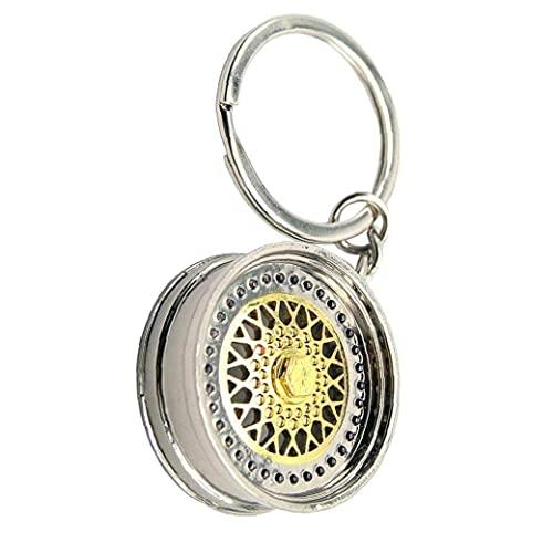 Modelo Lamer creativo Llavero de la rueda el anillo dominante automática Parte pendiente del anillo de moda Accesorios clave Key, clave de rueda Anillo Lamer