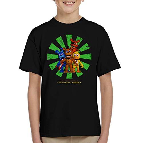 Cloud City 7 Five Nights At Freddys Retro Japanese Kid's T-Shirt