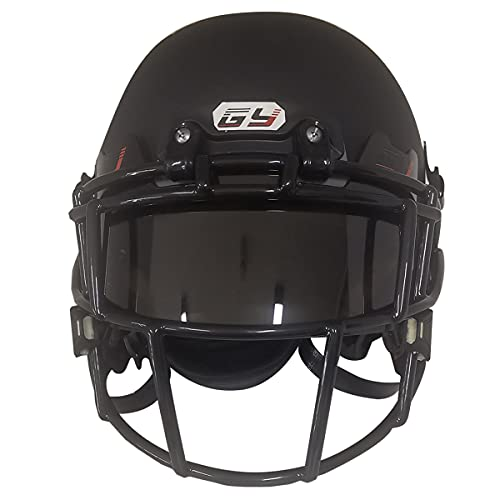 GY American Football Visor, Football and Lacrosse Helmet with Eye-Shield Visor is Easy to Install, (Brown)