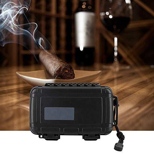 Boquite Zigarrenetui, Kunststoff tragbare Reise Outdoor Humidor Halter Aufbewahrungsbox mit Luftbefeuchter