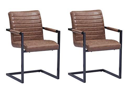 SAM® 2er Set Schwingstuhl Stoff Wildlederoptik Parzivo
