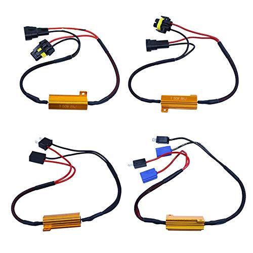 H1 H3 H7 9006 9005 Resistor De Carga Del Coche Cancelador De Errores Decodificador LED Canbus Cable Libre De Errores Decodificador De Cancelador Luz 50W 2 Uds Fácil Instalación ( Color : H7 )