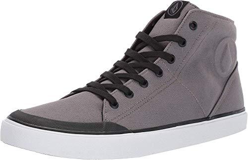 Volcom FI Hi Top Vulcanized Shoe Skate pour Homme FI Hi Top Vulcanisé Chaussures de Skate - Gris - Gris métal, 38.5 EU