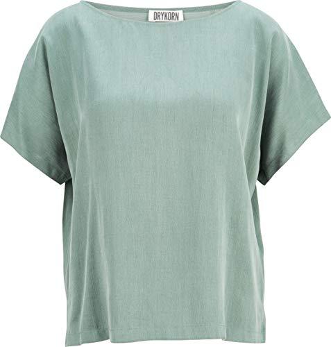 Drykorn Damen Kurzarm-Bluse in Grün 4 / L