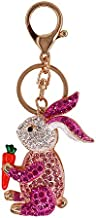 Legering Sleutelhanger Kleur Diamant Cartoon Auto-accessoires Hanger Geschenk Roze