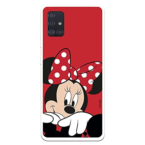 Custodia per Samsung Galaxy A51 Ufficiale Disney Minnie Sfondo rosso per proteggere il tuo cellulare Cover per Samsung con licenza ufficiale Disney.