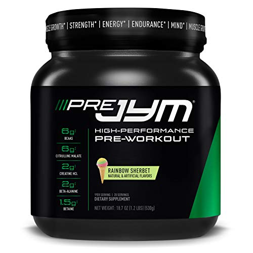 JYM Supplement Science Pre Rainbow Sherbet Supplement, Pack of 20