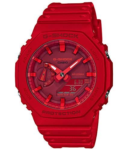 [カシオ] 腕時計 ジーショック カーボンコアガード GA-2100-4AJF メンズ レッド