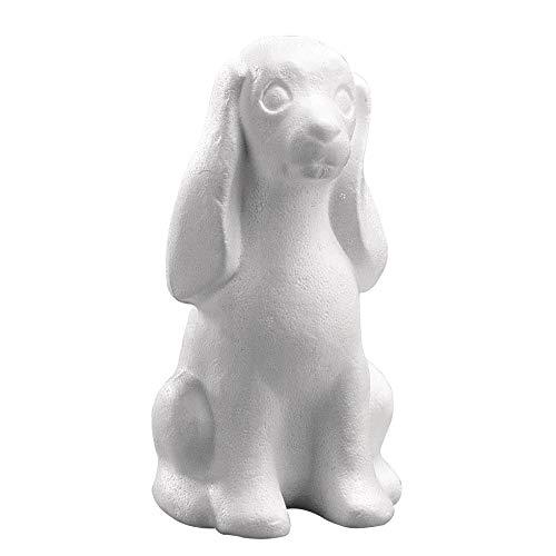 Rayher 3320900 Styropor-Hund, 25 cm