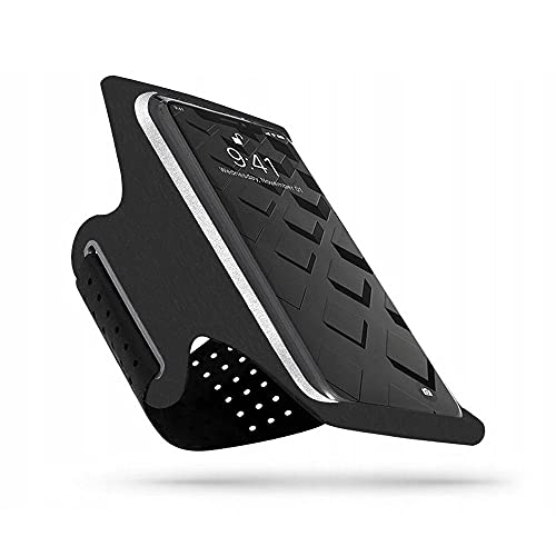 Tech-Protect G10 - Brazalete deportivo para iPhone 12/12 Pro, Samsung Galaxy S10/S20/S21, color negro