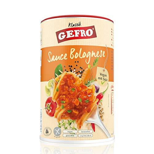 GEFRO Klassik Sauce Bolognese zu Nudeln, Lasagne oder Pizza, vegan mit Soja (600g)