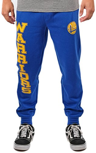 Ultra Game NBA Golden State Warriors Mens Basic Soft Terry Jogger Pants, Team Color, XX-Large