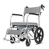 Lyl Multi-Funktions-Rollstuhl, Dusche Rollstuhl über WC mit Commode, Badezimmer Mobil Stuhl Kommode Faltbare Aluminiumrahmen Gepolsterte Sitzrückenlehne mit Hand Brakes -